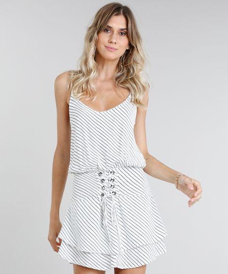 b83429c68 Vestido-Feminino-Curto-Listrado-com-Lace-Up-Off-