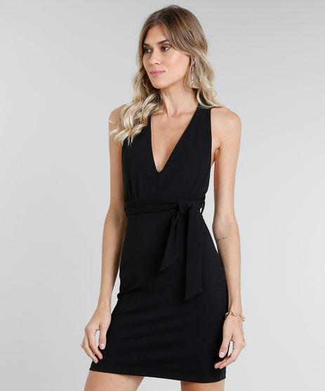 05fb22ff7 Vestido-Feminino-Curto-com-Alcas-Cruzadas-Preto-9462429-