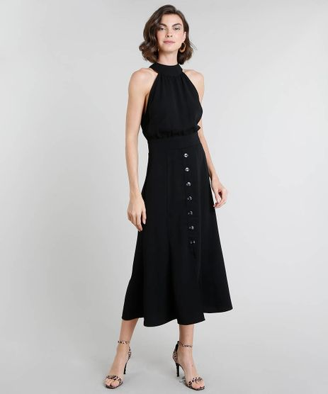 Vestido-Feminino-Midi-Halter-Neck-com-Botoes-Preto-9375326-Preto_1