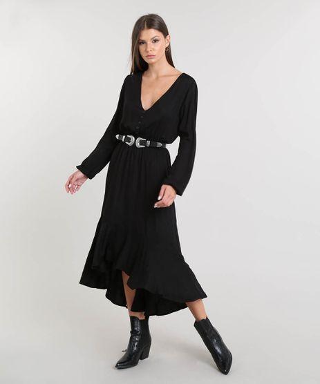 Vestido-Feminino-Midi-Open-Shoulder-com-Babado-Manga-Longa-Preto-9368723-Preto_1