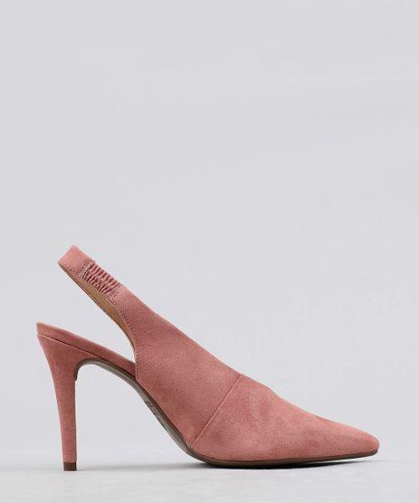 Scarpin-Feminino-Bico-Fino-em-Suede-Rose-9471125-Rose_1