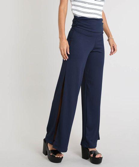 Calca-Feminina-Pantalona-Canelada-com-Fenda-Azul-Marinho-9460409-Azul_Marinho_1