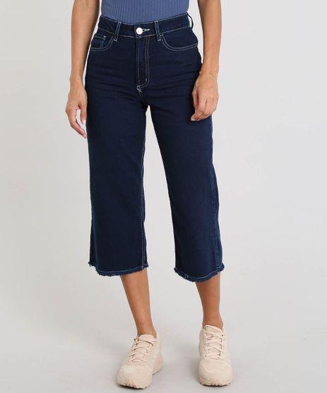 Calca-Jeans-Feminina-Pantacourt-com-Barra-Desfiada-Azul-Escuro-9469886-Azul_Escuro_1