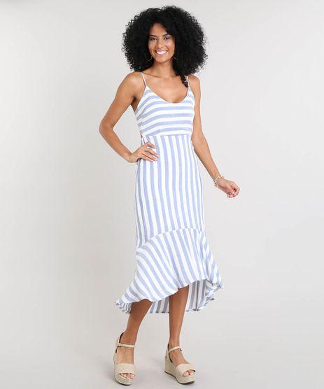 Vestido-Feminino-Midi-Listrado-com-Babado-e-Lace-Up-Alca-Fina-Off-White-9502736-Off_White_1