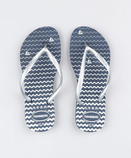4af36d278b Chinelo-Feminino-Havaianas-Slim-Estampado-Navy-Azul-Marinho-