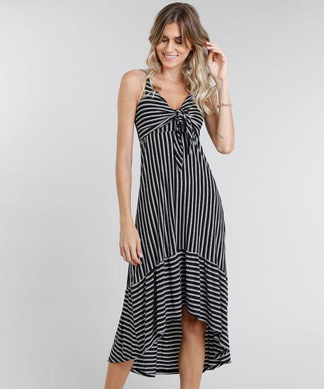Vestido-Feminino-Midi-Mullet-Listrado-Preto-9462427-Preto_1