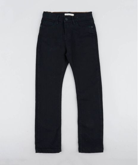 Calca-Jeans-Infantil-com-Bolsos-Preta-9245965-Preto_1