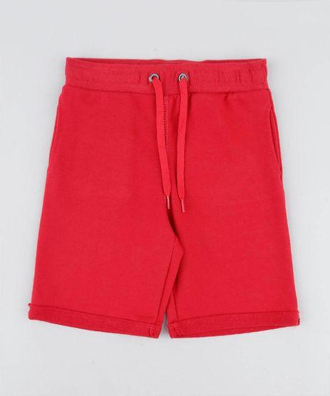 Bermuda-Infantil-em-Moletom-com-Bolsos-Vermelha-9260488-Vermelho_1
