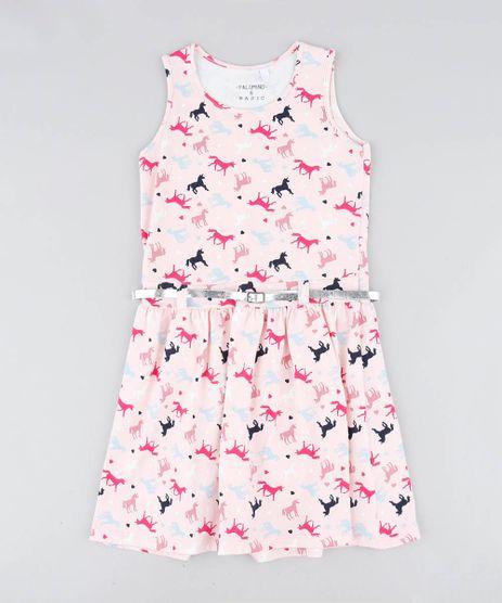 Vestido-Infantil-Estampado-de-Unicornio-com-Cinto-Metalizado-Rosa-Claro-9426367-Rosa_Claro_1