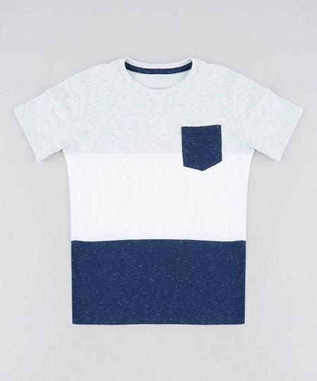 b388460a530eb6 Camiseta Infantil Água de Coco Tal Pai Tal Filho com Bolso Listrado ...