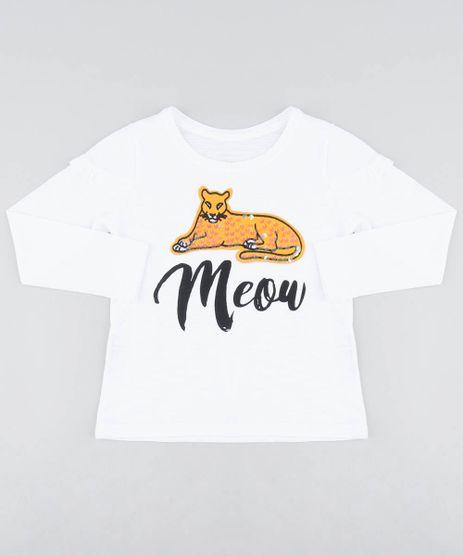Blusa-Infantil--Meow--com-Babado-Manga-Longa-Decote-Redondo-Off-White-9406693-Off_White_1