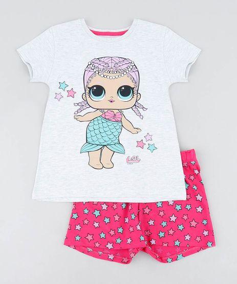 Pijama-Infantil-LOL-Surprise-Manga-Curta-Cinza-Mescla-9476411-Cinza_Mescla_1
