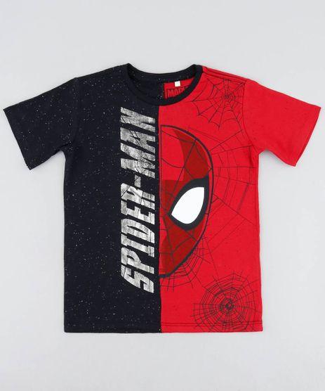 Camiseta-Infantil-Homem-Aranha-com-Recorte-Bicolor-Manga-Curta-Gola-Careca-Preta-9455779-Preto_1