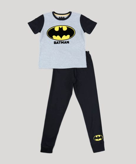 Pijama-Infantil-Batman-Manga-Curta-Cinza-Mescla-9476328-Cinza_Mescla_1