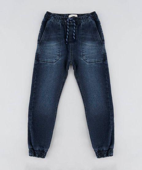 Calca-Jeans-Infantil-Jogger-com-Bolsos-Azul-Escuro-9453224-Azul_Escuro_1