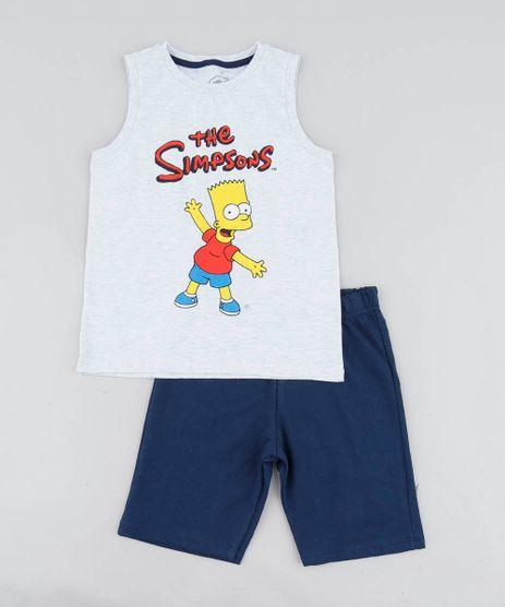 Conjunto-Infantil-Bart-Simpson-de-Regata-Cinza-Mescla-Claro---Bermuda-em-Moletom-Azul-Marinho-9447084-Azul_Marinho_1