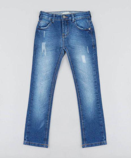 Calca-Jeans-Infantil-Skinny-com-Puidos-Azul-Medio-9459822-Azul_Medio_1