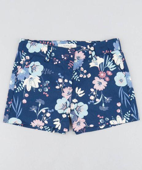 Short-Infantil-Estampado-Floral-com-Bolsos-Azul-Marinho-9364754-Azul_Marinho_1