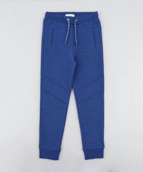 Calca-Infantil-em-Moletom-Canelado-com-Bolsos-Azul-9342212-Azul_1