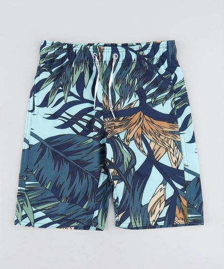 Bermuda-Surf-Infantil-Estampada-de-Folhagem-Verde-Claro-9519913-Verde_Claro_1
