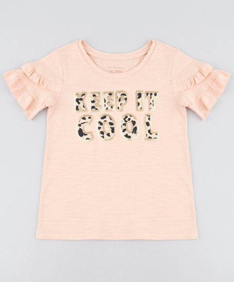 Blusa-Infantil--Keep-it-Cool--com-Babado-na-Manga-Decote-Redondo-Laranja-Claro-9409741-Laranja_Claro_1