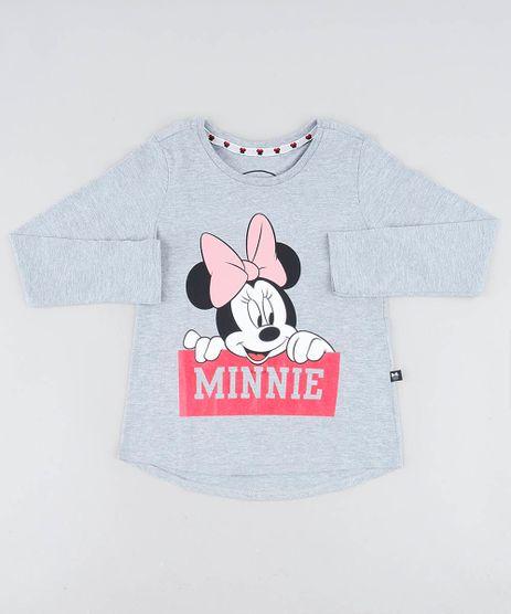 Blusa-Infantil-Minnie-Manga-Longa-Decote-Redondo-Cinza-Mescla-9406603-Cinza_Mescla_1