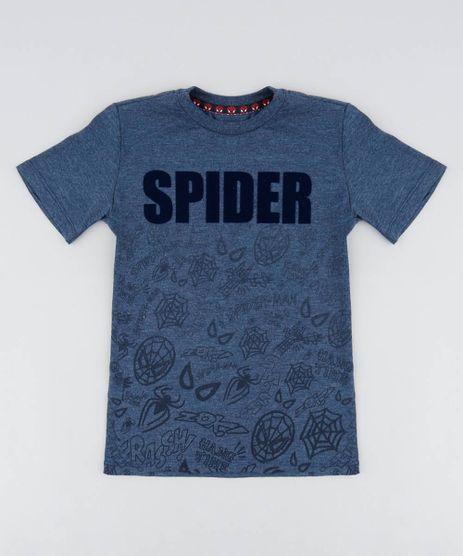 Camiseta-Infantil-Homem-Aranha-Manga-Curta-Gola-Careca-Azul-Marinho-9519343-Azul_Marinho_1