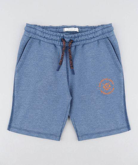Bermuda-Infantil-em-Moletom-com-Bolsos-Azul-9456908-Azul_1
