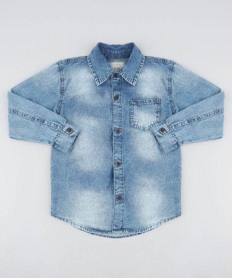 Camiseta-Jeans-Infantil-com-Bolso-Manga-Longa-Azul-Medio-9506034-Azul_Medio_1