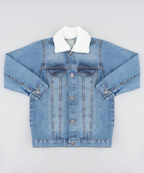 Jaqueta-Jeans-Infantil-com-Pelo-Azul-Medio-9487247-Azul_Medio_1