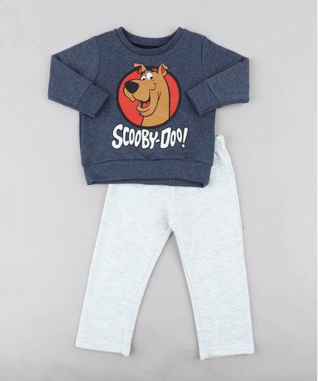 Conjunto-Infantil-Scooby-Doo-de-Blusao-Azul-Marinho---Calca-em-Moletom-Cinza-Mescla-Claro-9437989-Cinza_Mescla_Claro_1