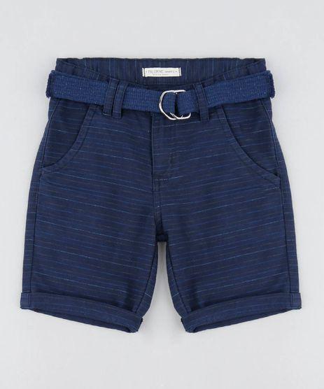 Bermuda-Infantil-Listrada-com-Cinto-Azul-Marinho-9453633-Azul_Marinho_1