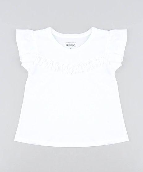 Blusa-Infantil-com-Franja-Babado-na-Manga-Decote-Redondo-Branca-9504278-Branco_1
