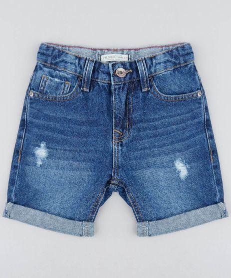 Bermuda-Jeans-Infantil-Destroyed-Azul-Medio-9459821-Azul_Medio_1