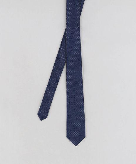 Gravata-Masculina-Texturizada-Estampada-de-Poas-Azul-Marinho-9349091-Azul_Marinho_1