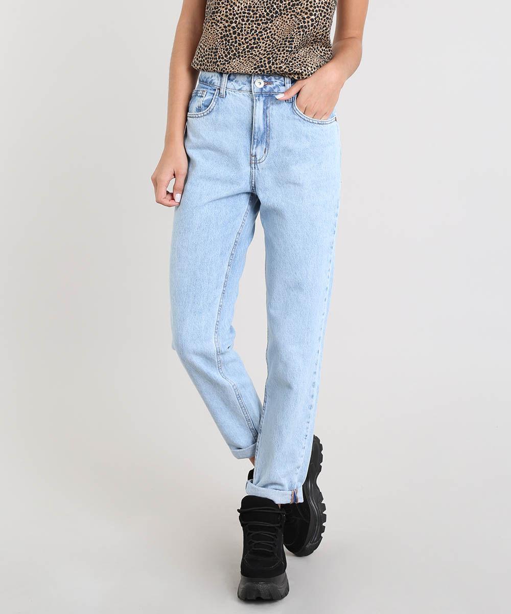 3e7d63e7e ... Calca-Jeans-Feminina-Mom-Pants-Azul-Claro-9392733-