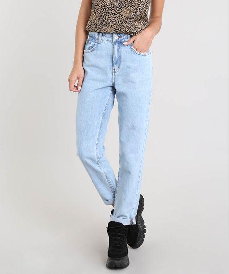 7de5a99d87d0e Calca-Jeans-Feminina-Mom-Pants-Azul-Claro-9392733- ...