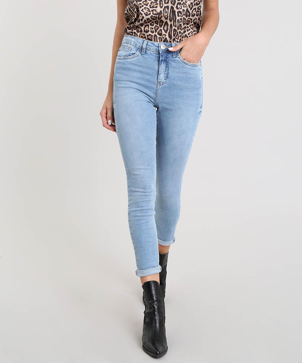 25f0e2912 ... Calca-Jeans-Feminina-Super-Skinny-Azul-Claro-9453711-