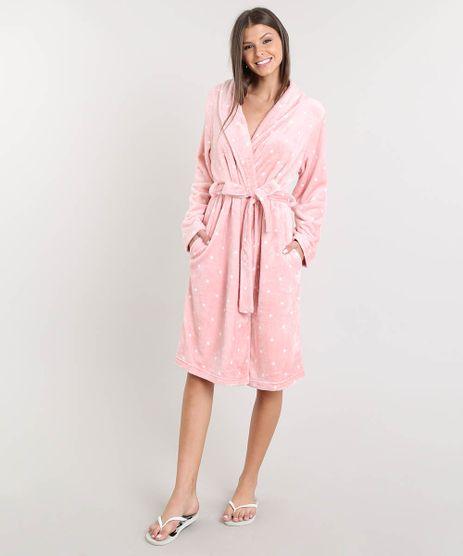 Robe-Feminino-em-Plush-Estampado-de-Poa-Rosa-9371915-Rosa_1