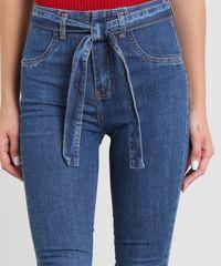 c1a19f1ee ... Calca-Jeans-Feminina-Sawary-Flare-com-Barra-Desfiada-. Calça Jeans  Feminina Sawary Flare com Barra Desfiada e Cinto Azul Médio