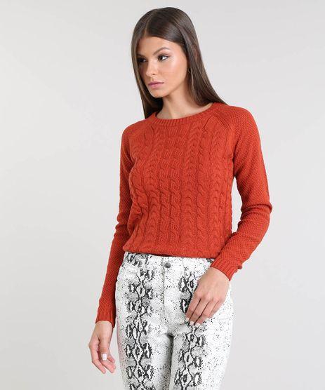 Sueter-Feminino-em-Trico-Decote-Redondo-Cobre-9358880-Cobre_1