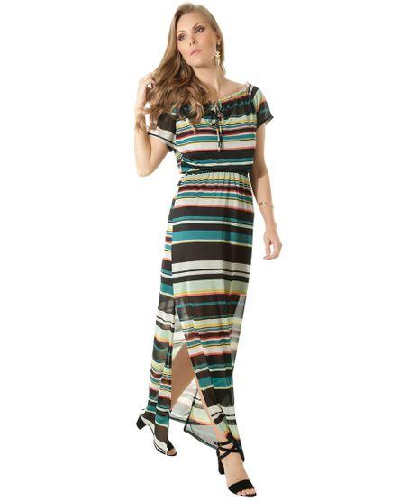 983ed46fd consultar em lojas. c-a. Vestido-Longo-Listrado-Verde-8458877-Verde_1. Moda  Feminina