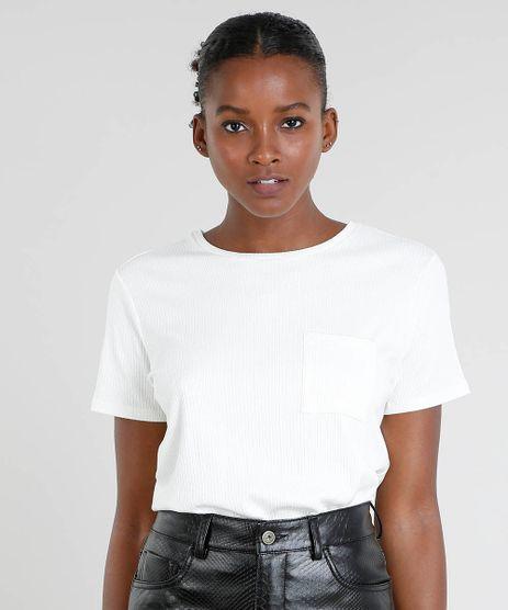 T-Shirt-Feminina-Mindset-Canelada-com-Bolso-Manga-Curta-Off-White-9544642-Off_White_1