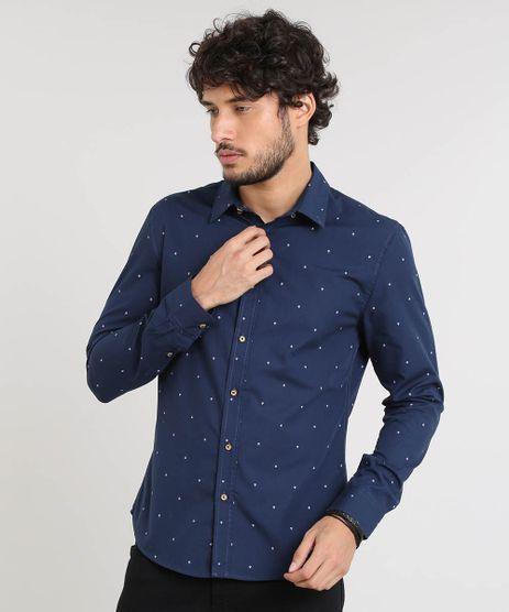 Camisa-Masculina-Slim-Estampada-de-Ancoras-Manga-Longa-Azul-Marinho-9167871-Azul_Marinho_1