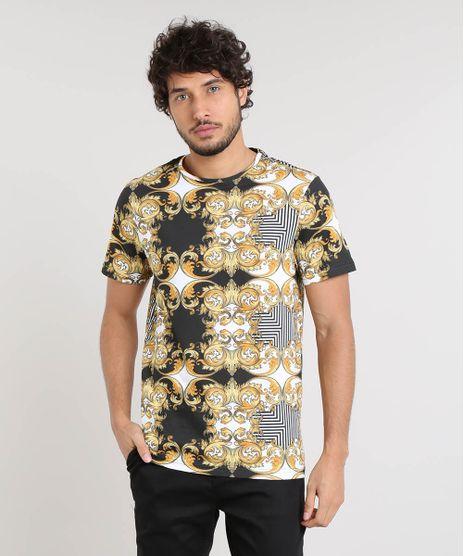 Camiseta-Masculina-Slim-Fit-Estampada-Barroca-Manga-Curta-Gola-Careca-Branca-9449588-Branco_1
