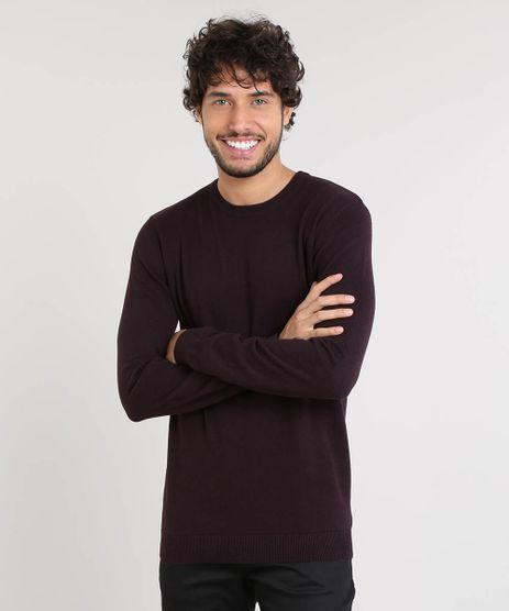 Sueter-Masculino-Basico-em-Trico-Vinho-9364114-Vinho_1