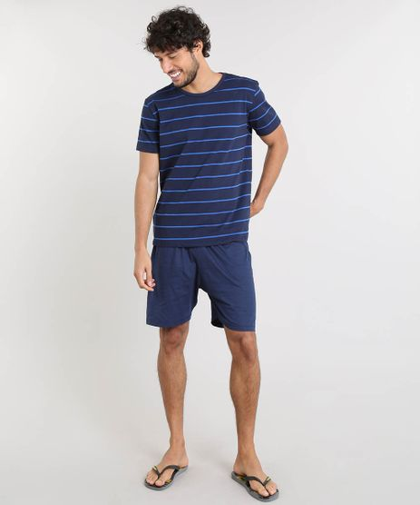Pijama-Masculino-Listrado-Manga-Curta-Azul-Marinho-9442568-Azul_Marinho_1