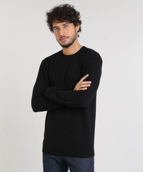 Sueter-Masculino-Basico-em-Trico-Preto-9364112-Preto_1