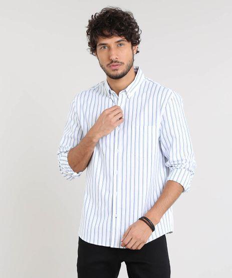 Camisa-Masculina-Comfort-Listrada-Manga-Longa-Branca-9445208-Branco_1