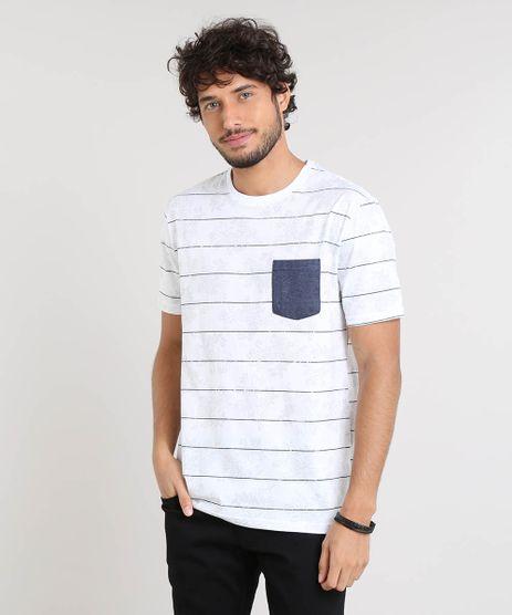 Camiseta-Masculina-Listrada-Floral-com-Bolso-Manga-Curta-Gola-Careca-Off-White-9449165-Off_White_1